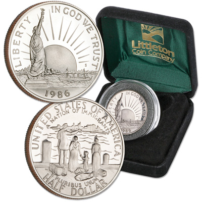 Image for 1986-S Statue of Liberty Half Dollar with Case from Littleton Coin Company