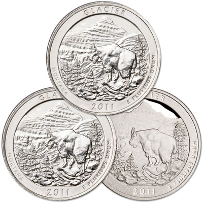 Image for 2011 PDS Glacier Quarter Set (3 coins) from Littleton Coin Company