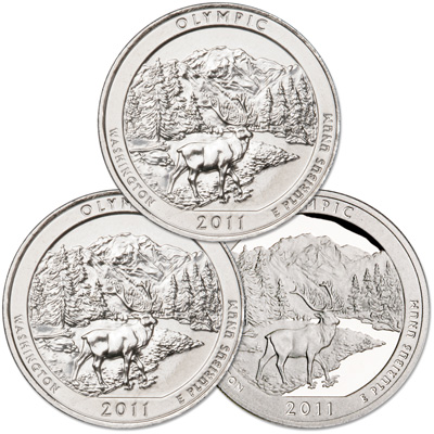 Image for 2011 PDS Olympic Quarter Set (3 coins) from Littleton Coin Company