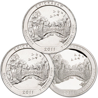 Image for 2011 PDS Chickasaw Quarter Set from Littleton Coin Company