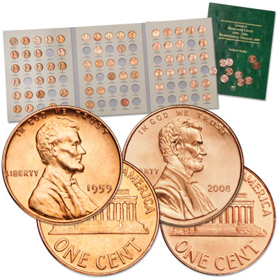 Image for 1959-2008 Memorial Lincoln Head Cent Set (75 coins) from Littleton Coin Company