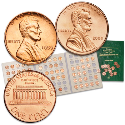 Image for 1959-2008 Memorial Lincoln Cent Set from Littleton Coin Company