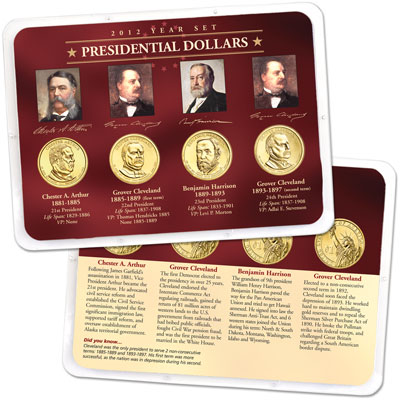 Image for 2012 Presidential Dollar Year Set in Showpak (4 coins) from Littleton Coin Company