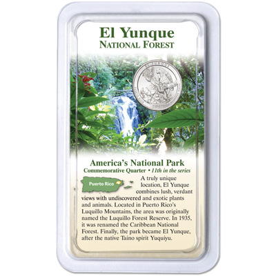 Image for 2012 El Yunque National Forest Quarter in Showpak from Littleton Coin Company