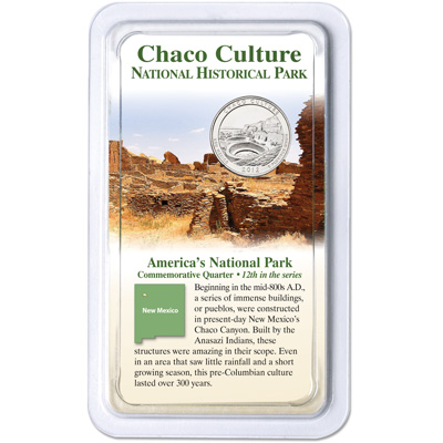 Image for 2012 Chaco Culture National Historical Park Quarter in Showpak from Littleton Coin Company