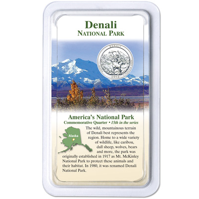 Image for 2012 Denali National Park & Preserve Quarter in Showpak from Littleton Coin Company