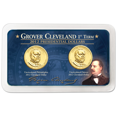 Image for 2012 P&D Grover Cleveland Presidential Dollar Showpak from Littleton Coin Company