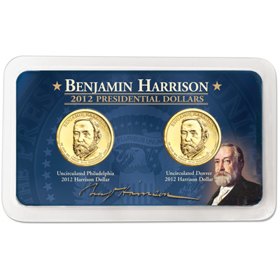 Image for 2012 P&D Benjamin Harrison Presidential Dollar Showpak from Littleton Coin Company