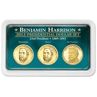 Image for 2012 Benjamin Harrison Presidential Dollar in Exclusive PDS Showpak from Littleton Coin Company