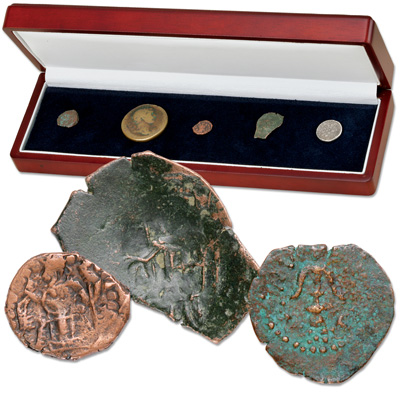 Image for 103 B.C. - A.D. 1578 Ancient Denomination Set (5 coins) from Littleton Coin Company