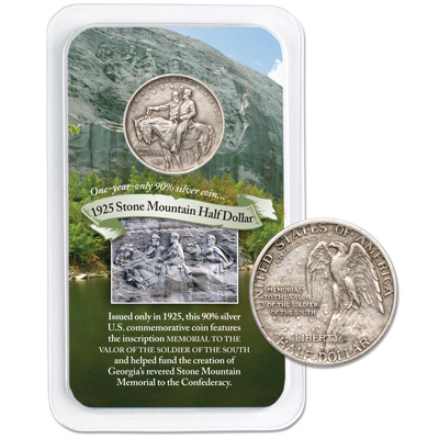 Image for 1925 Stone Mountain Silver Half Dollar Commemorative in Showpak from Littleton Coin Company