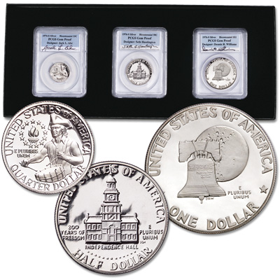 Image for 1976-S 40% Silver Bicentennial Designer Set (3 coins) from Littleton Coin Company