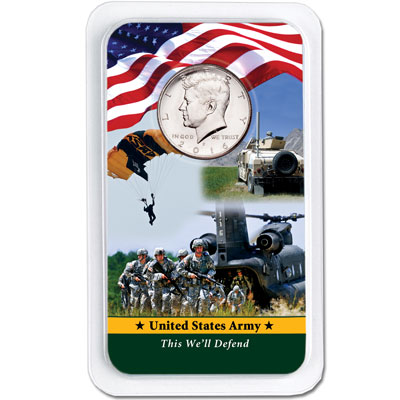Image for 2016 Kennedy Half Dollar in U.S. Army Showpak from Littleton Coin Company