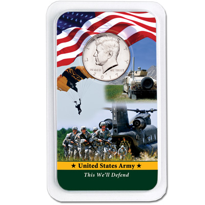 Image for 2017 Kennedy Half Dollar in U.S. Army Showpak from Littleton Coin Company
