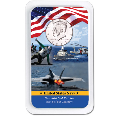 Image for 2015 Kennedy Half Dollar in U.S. Navy Showpak from Littleton Coin Company