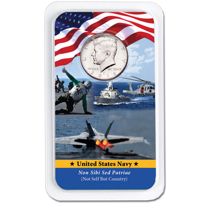 Image for 2016 Kennedy Half Dollar in U.S. Navy Showpak from Littleton Coin Company