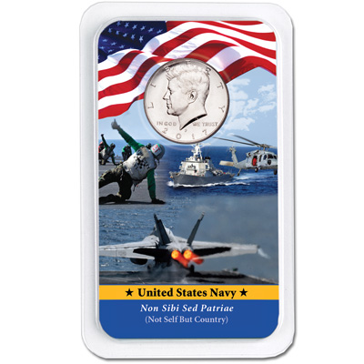 Image for 2017 Kennedy Half Dollar in U.S. Navy Showpak from Littleton Coin Company
