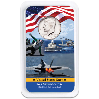 Image for 2020 Kennedy Half Dollar in U.S. Navy Showpak from Littleton Coin Company