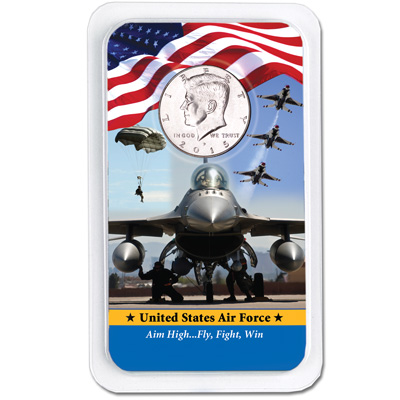Image for 2015 Kennedy Half Dollar in U.S. Air Force Showpak from Littleton Coin Company
