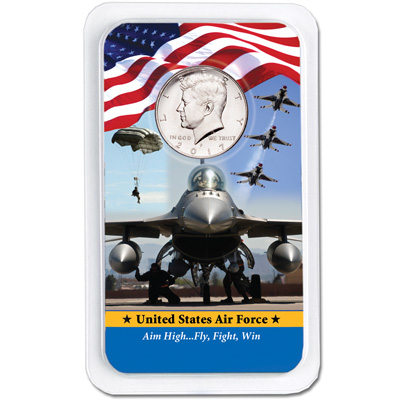 Image for 2017 Kennedy Half Dollar in U.S. Air Force Showpak from Littleton Coin Company
