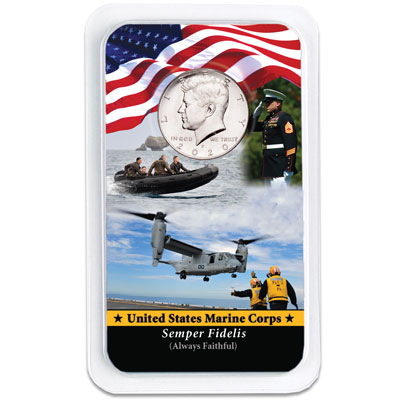 Image for 2020 Kennedy Half Dollar in U.S. Marines Showpak from Littleton Coin Company