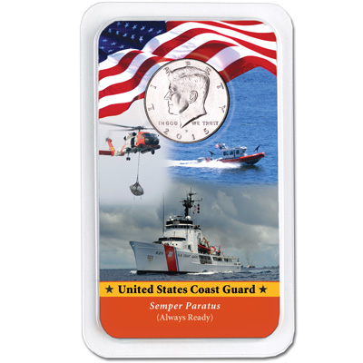 Image for 2015 Kennedy Half Dollar in U.S. Coast Guard Showpak from Littleton Coin Company