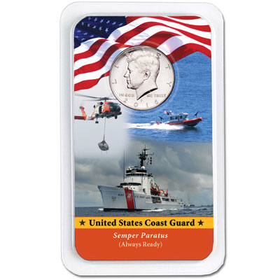 Image for 2016 Kennedy Half Dollar in U.S. Coast Guard Showpak from Littleton Coin Company