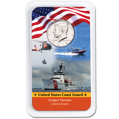 Image for 2018 Kennedy Half Dollar in U.S. Coast Guard Showpak from Littleton Coin Company