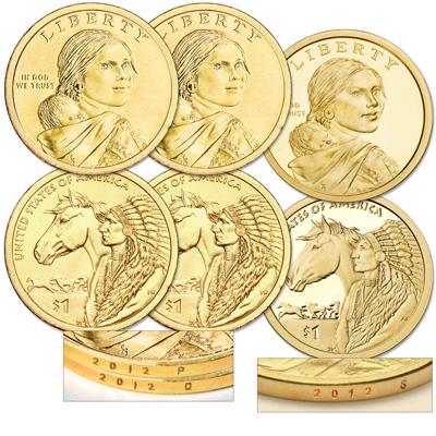 Image for 2012 PDS Native American Dollar Set (3 coins) from Littleton Coin Company