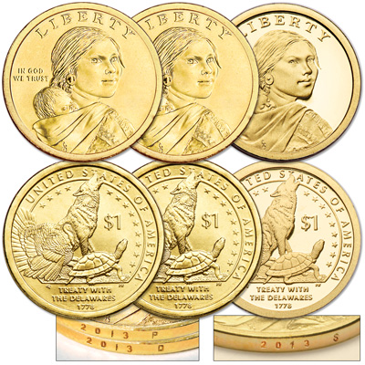 Image for 2013 PDS Native American Dollar Set (3 coins) from Littleton Coin Company