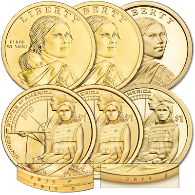 Image for 2014 PDS Native American Dollar Set (3 coins) from Littleton Coin Company