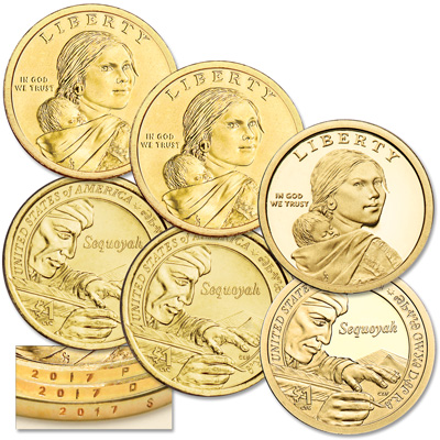 Image for 2017 PDS Native American Dollar Set from Littleton Coin Company