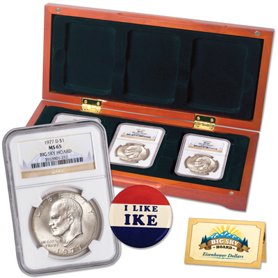 Image for 1974-D–1978-D Eagle Reverse Eisenhower Dollar Set, Big Sky Hoard from Littleton Coin Company
