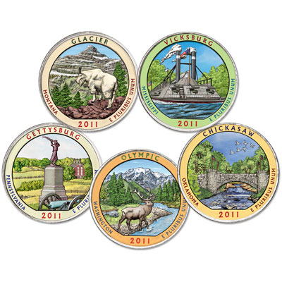 Image for 2011 Colorized National Park Quarter Year Set from Littleton Coin Company