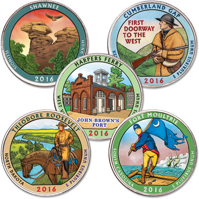 Image for 2016 Colorized National Park Quarter Year Set from Littleton Coin Company