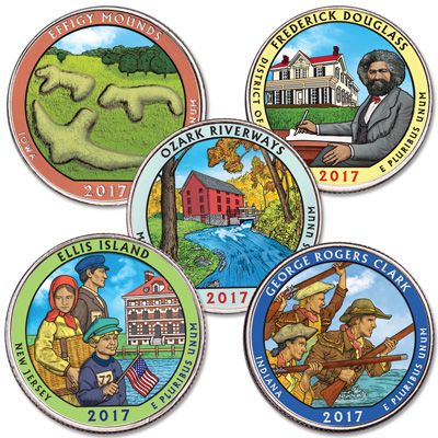 Image for 2017 Colorized National Park Quarter Year Set from Littleton Coin Company