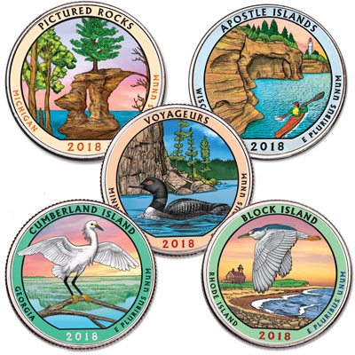 Image for 2018 Colorized National Park Quarter Year Set from Littleton Coin Company