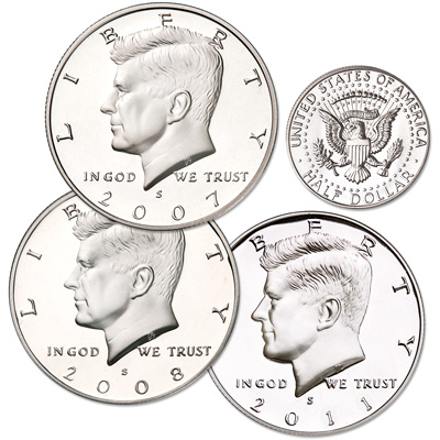 "Image for 2007-2011 ""S"" Mint 90% Silver Kennedy Half Dollar Set from Littleton Coin Company"