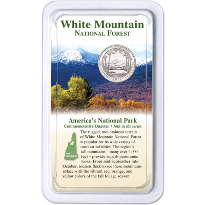 Image for 2013 White Mountain National Forest Quarter in Showpak from Littleton Coin Company