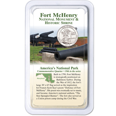 Image for 2013 Fort McHenry National Monument and Historic Shrine Quarter in Showpak from Littleton Coin Company
