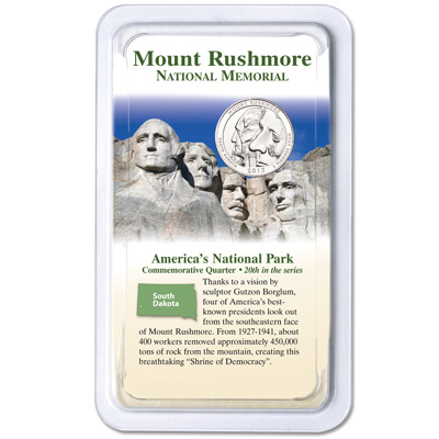 Image for 2013 Mount Rushmore National Memorial Quarter in Showpak from Littleton Coin Company