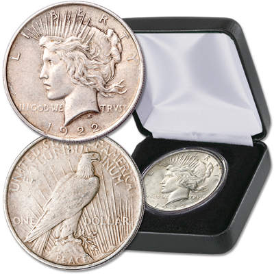 Image for 1922 Peace Dollar in Presentation Case from Littleton Coin Company