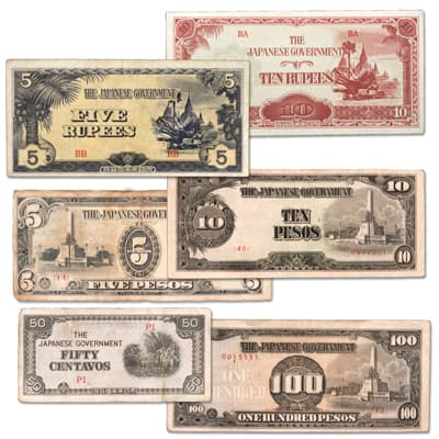 Image for 1942-1944 Japanese Invasion Currency Set from Littleton Coin Company