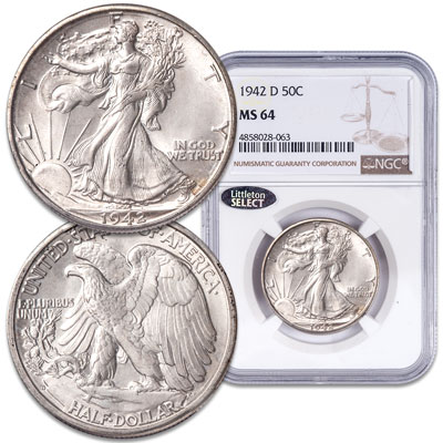 Image for 1942-D Liberty Walking Half Dollar from Littleton Coin Company