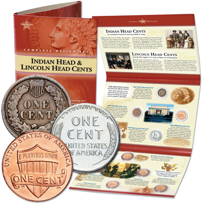 Image for Classic American Coin Set - Cents (9 coins) from Littleton Coin Company