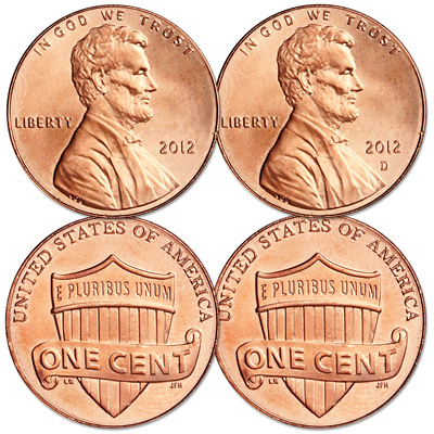Image for 2012 P&D Lincoln Head Cent Set from Littleton Coin Company