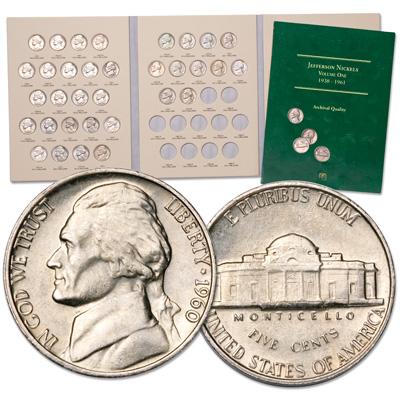 Image for 1960-1979 PDS Complete Jefferson Nickel Set with Folders from Littleton Coin Company
