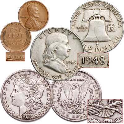 Image for 1878-1948 First-Year-of Issue Set, (3 Coins) from Littleton Coin Company
