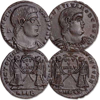 Image for A.D. 350-353 Magnentius & Decentius Centenionalis Set from Littleton Coin Company