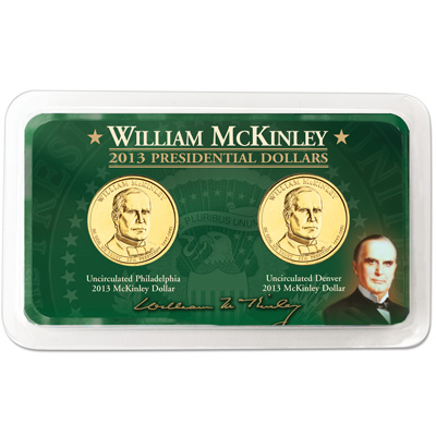 Image for 2013 P&D William McKinley Presidential Dollar Showpak from Littleton Coin Company
